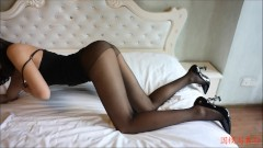 Yin Fei VIP super large-scale private shooting sexy black silk hairless force 1
