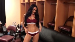 WWE Diva Nikki Bella strips down to her Calvin Kleins