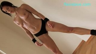 bdsm and fitness model alex zothberg nude workout before getting whipped
