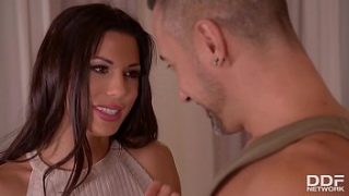 soldier and husband double penetrate horny wife alexa tomas until she screams