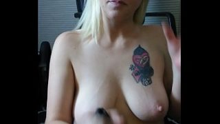 Blonde milf sexy blowjob swallowing