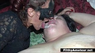 Double anal Penetration! DAP for nasty milf in real orgy!