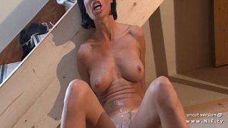 gorgeous big boobed french milf hard analyzed and foot fucked