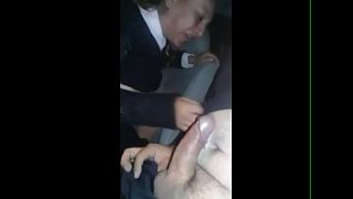 Mexican mature swallows mecos by accident in the car