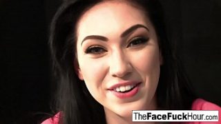 Aria Alexander gets face fucked