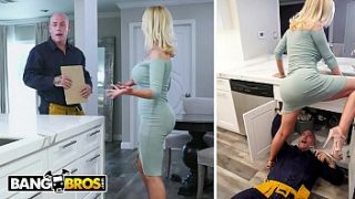 bangbros nikki benz gets her pipes fixed by plumber derrick pierce