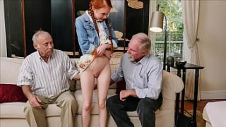 BLUE PILL MEN – Old Men Use Technology To Hook Up With Petite Redhead Teen Dolly Little