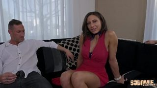 Cassie gets fucked in the ass by three big dicks including her husband