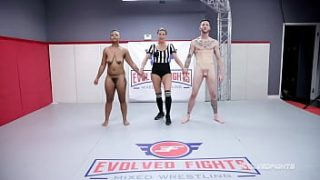Man vs Woman Naked Wrestling with Avery Jane Manhandled by Cody Carter