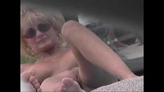 Nude Beach Voyeur Video – Cougar MILF Naked At The Nude Beach