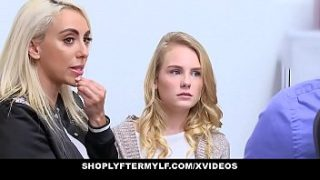 ShopLyfterMYLF – Blonde StepMother (Kylie Kingston) And StepDaughter (Natalie Knight) Fucked For Stealing